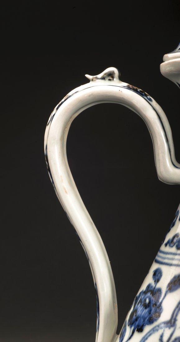 Blue And White Porcelain Wine Pot - 7