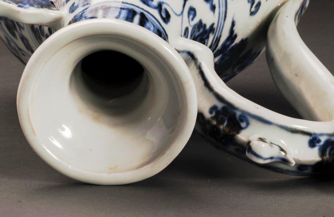 Blue And White Porcelain Wine Pot - 9