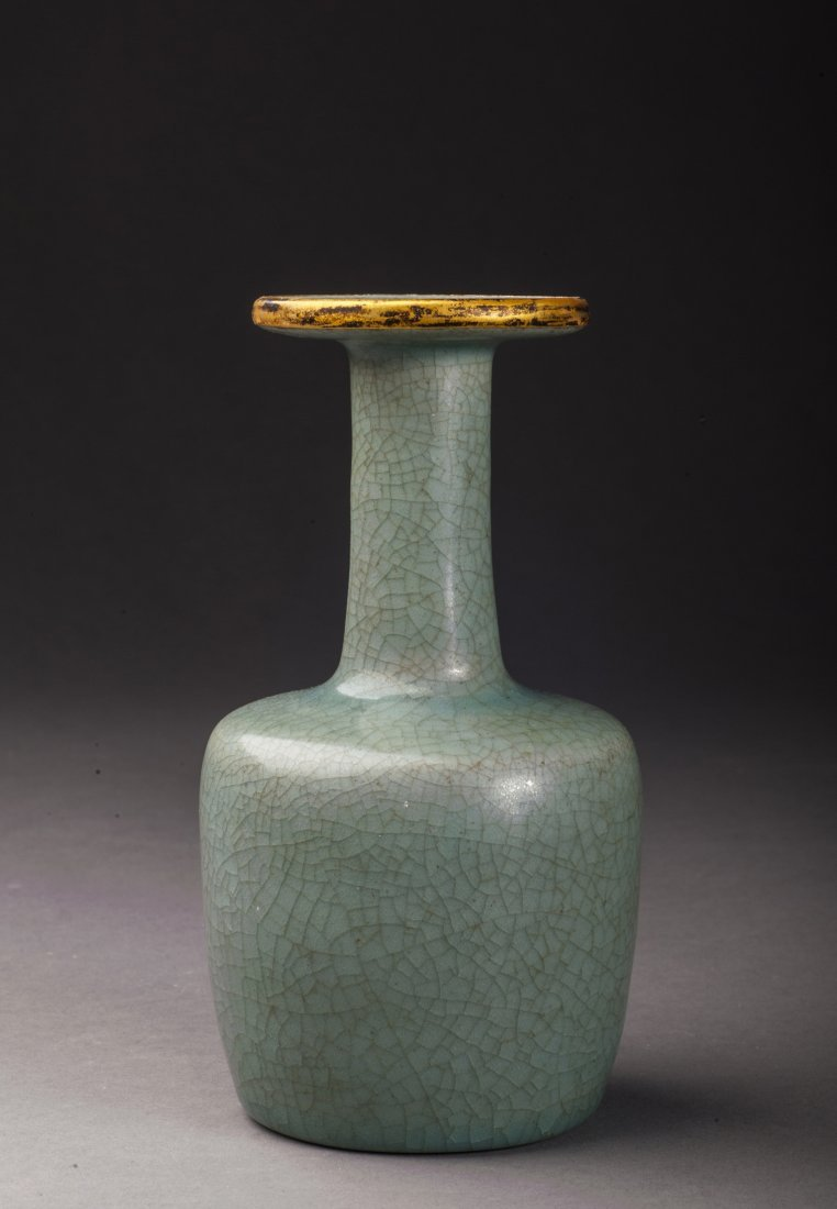 Antique Green Glazed Porcelain Vase