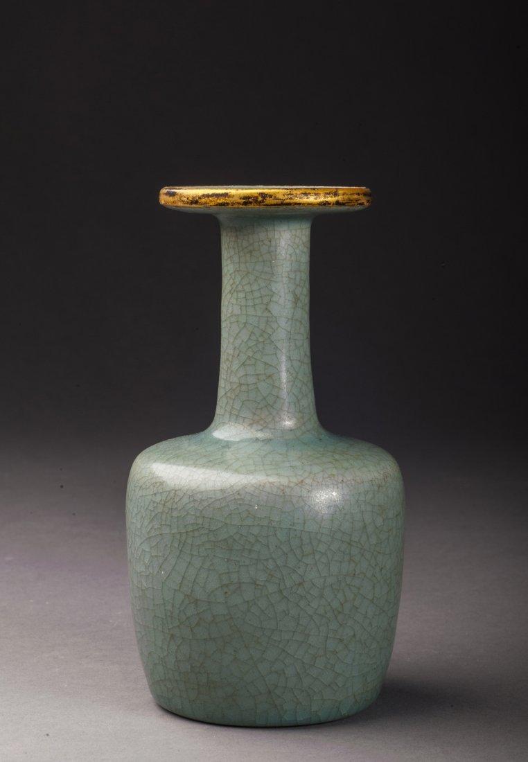 Antique Green Glazed Porcelain Vase