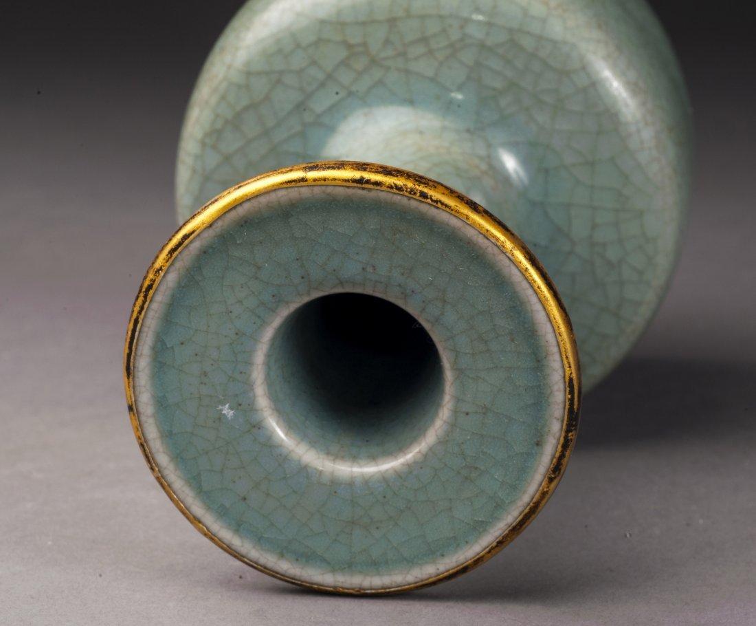 Antique Green Glazed Porcelain Vase - 2