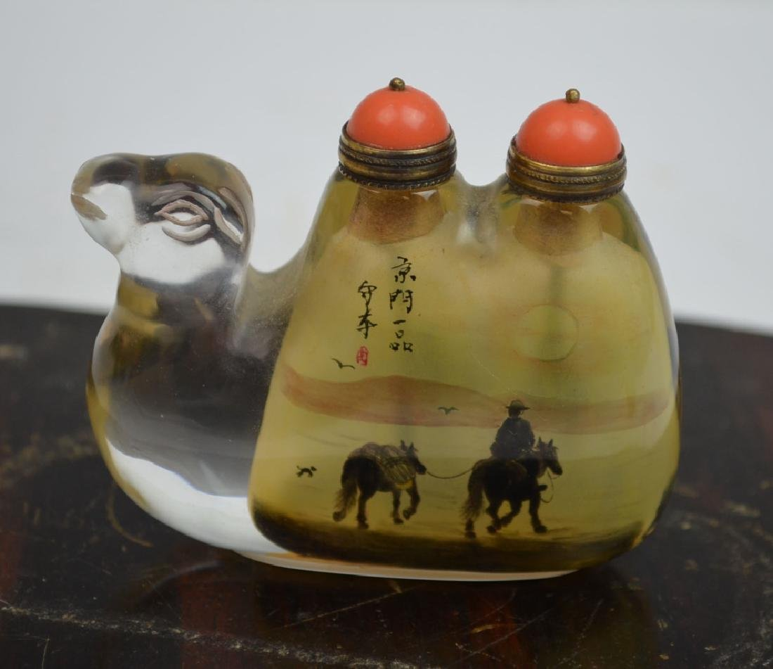 Chinese Glass Snuff Bottle in Camel Shape