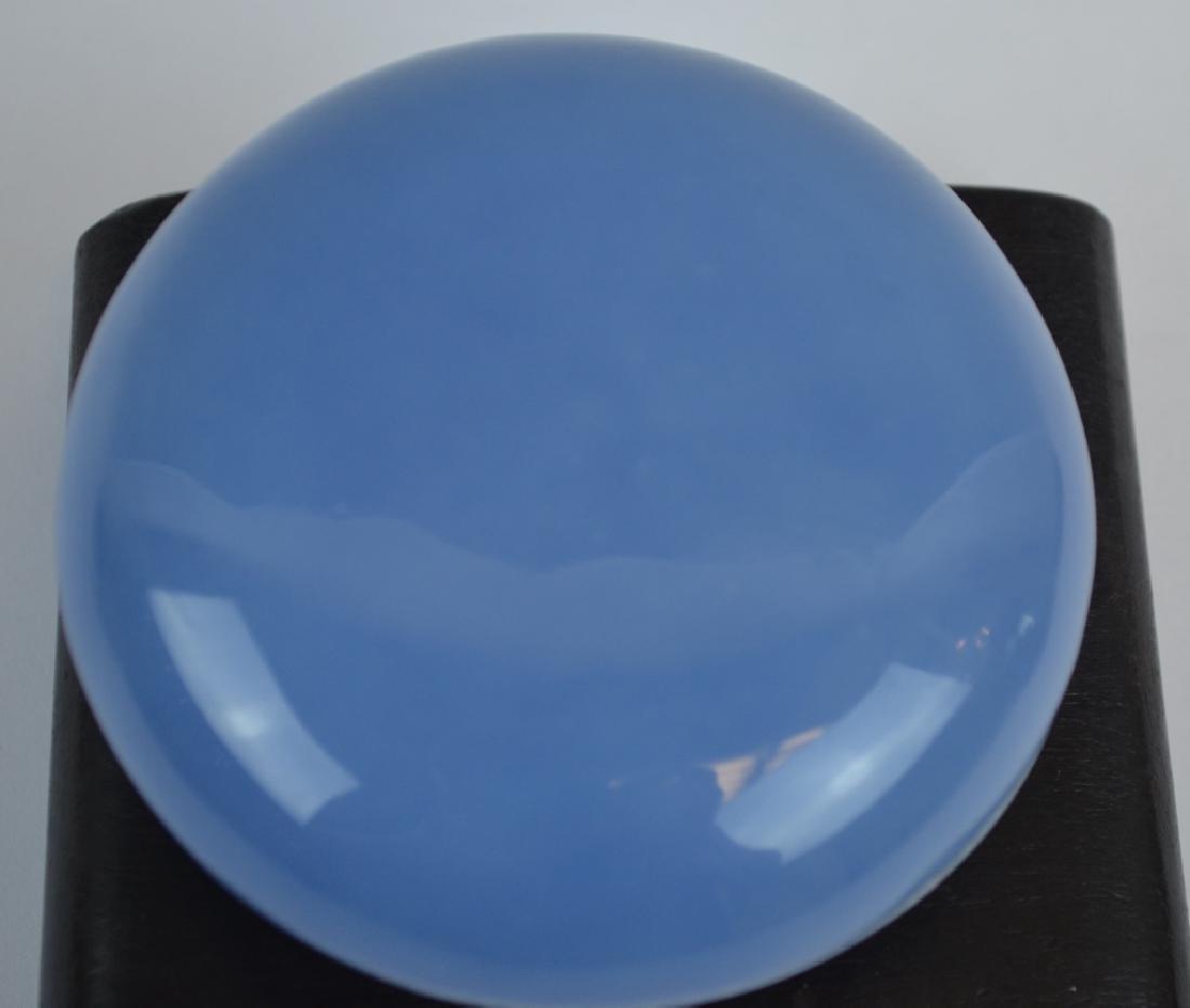Chinese Blue Glazed Porcelain Ink Box - 2