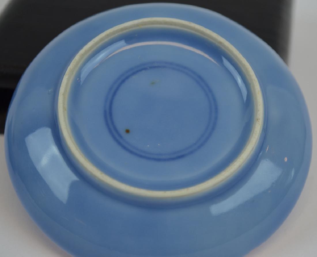 Chinese Blue Glazed Porcelain Ink Box - 5