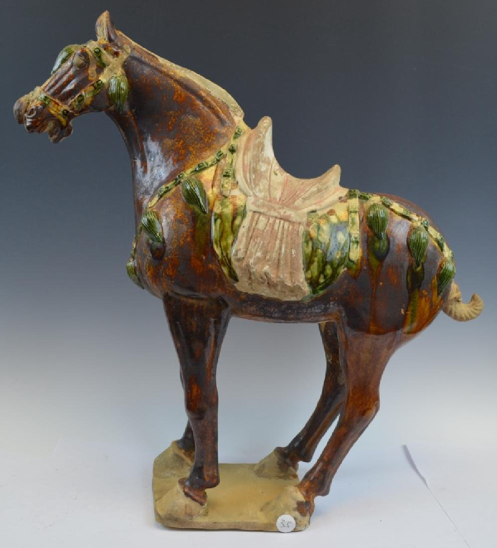 Chinese Tang Dynasty Pottery Horse