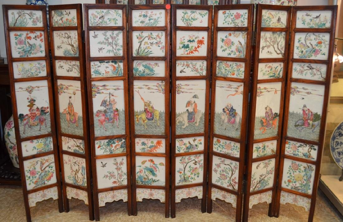 Chinese Famille Rose Porcelain Wall Panel