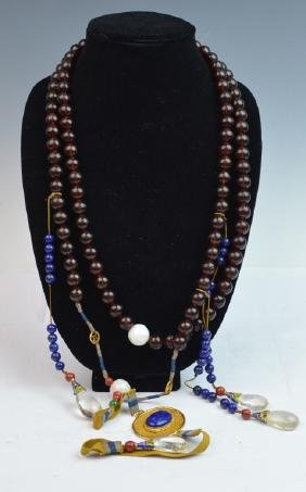 Chinese Amber Court Beads Necklace