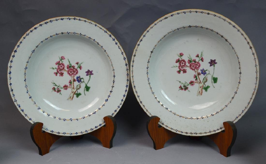 Two Pairs of Chinese Famille Rose Porcelain Plates - 2