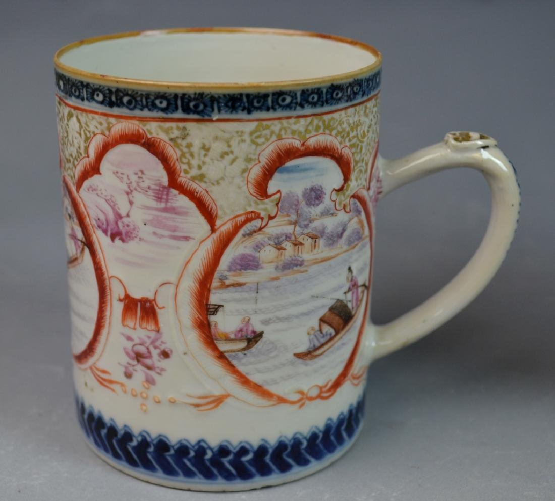 3 Pieces Chinese Export Porcelain Mugs - 2