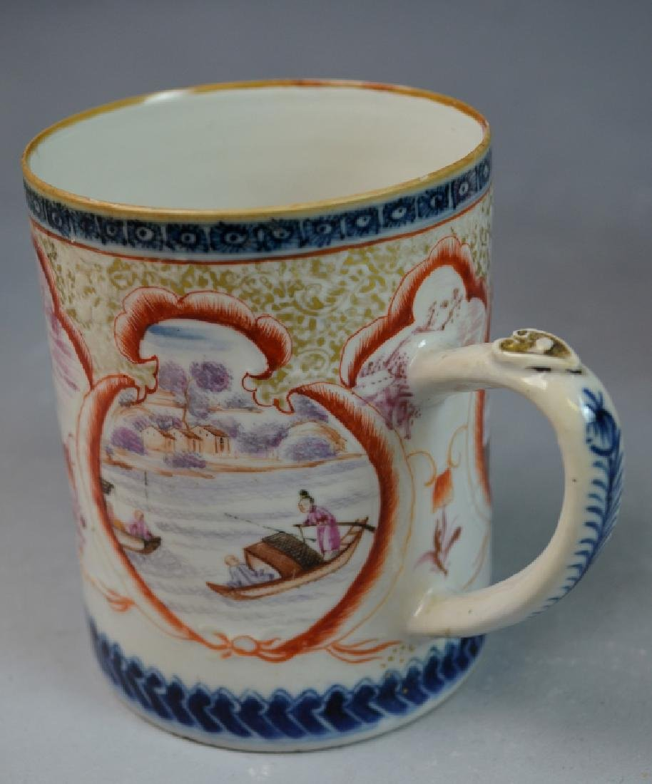 3 Pieces Chinese Export Porcelain Mugs - 4