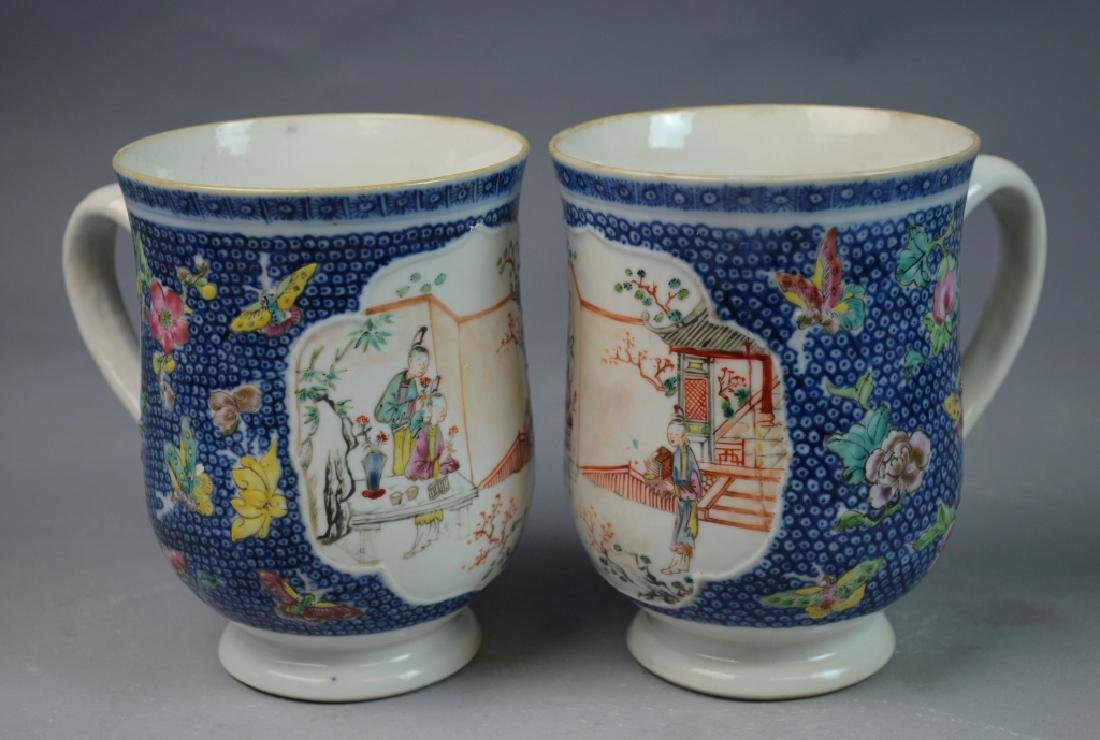 3 Pieces Chinese Export Porcelain Mugs - 6