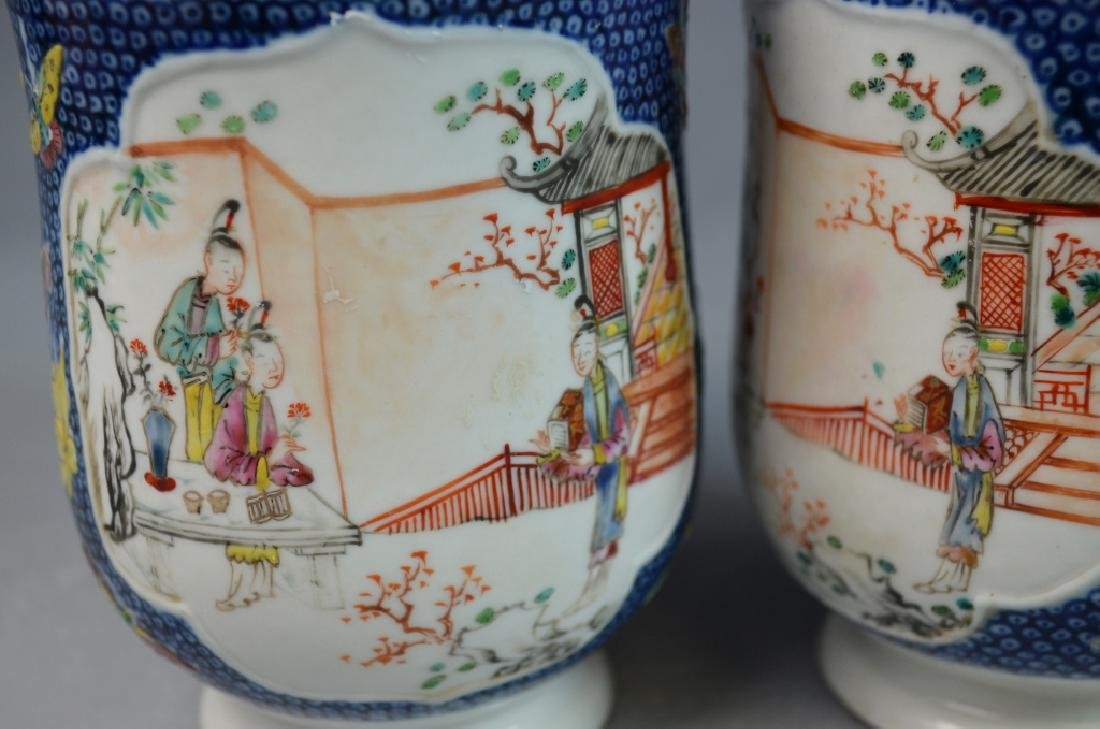 3 Pieces Chinese Export Porcelain Mugs - 7