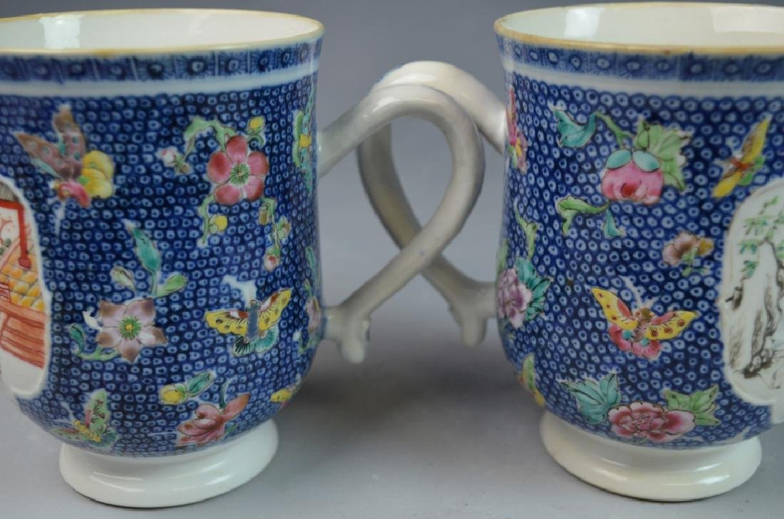 3 Pieces Chinese Export Porcelain Mugs - 8