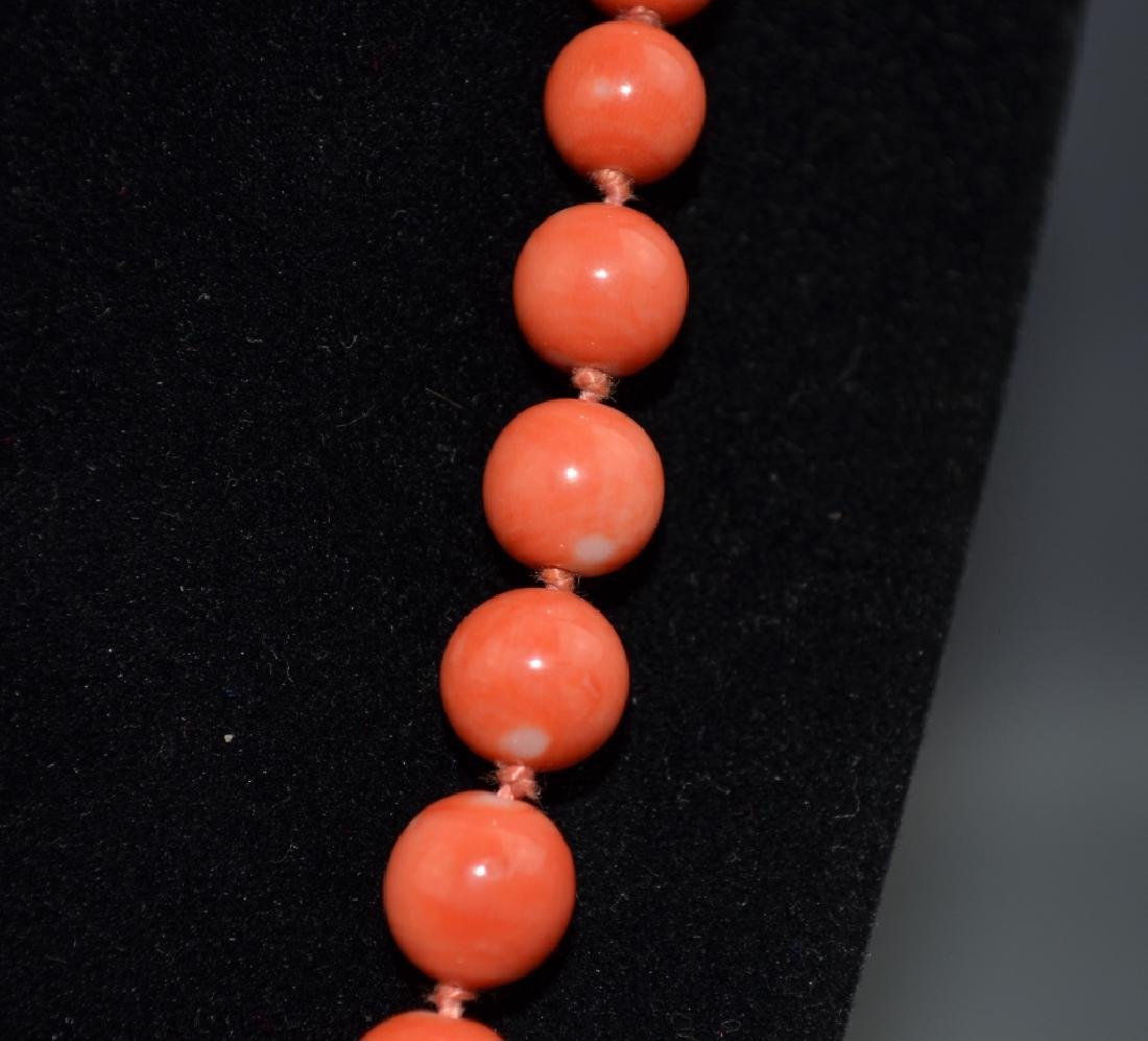 Coral Necklace with 14 K Gold Clasp - 3