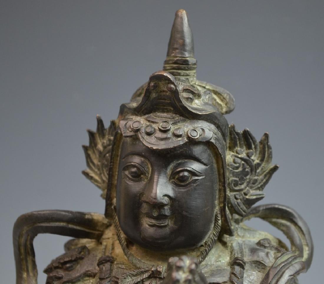 Chinese Bronze Figure of Standing Buddha - 2