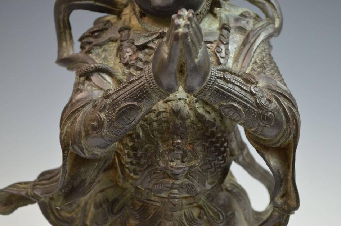 Chinese Bronze Figure of Standing Buddha - 3