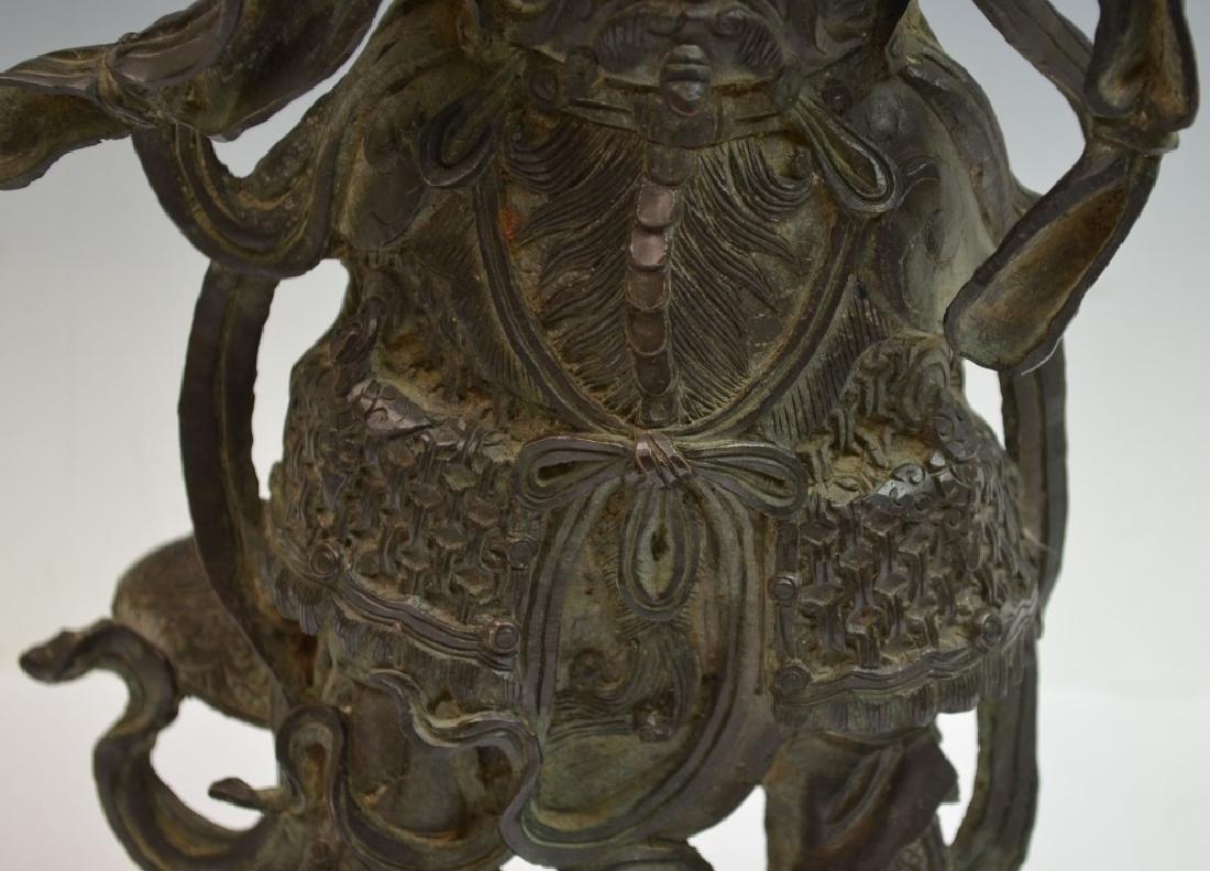 Chinese Bronze Figure of Standing Buddha - 4