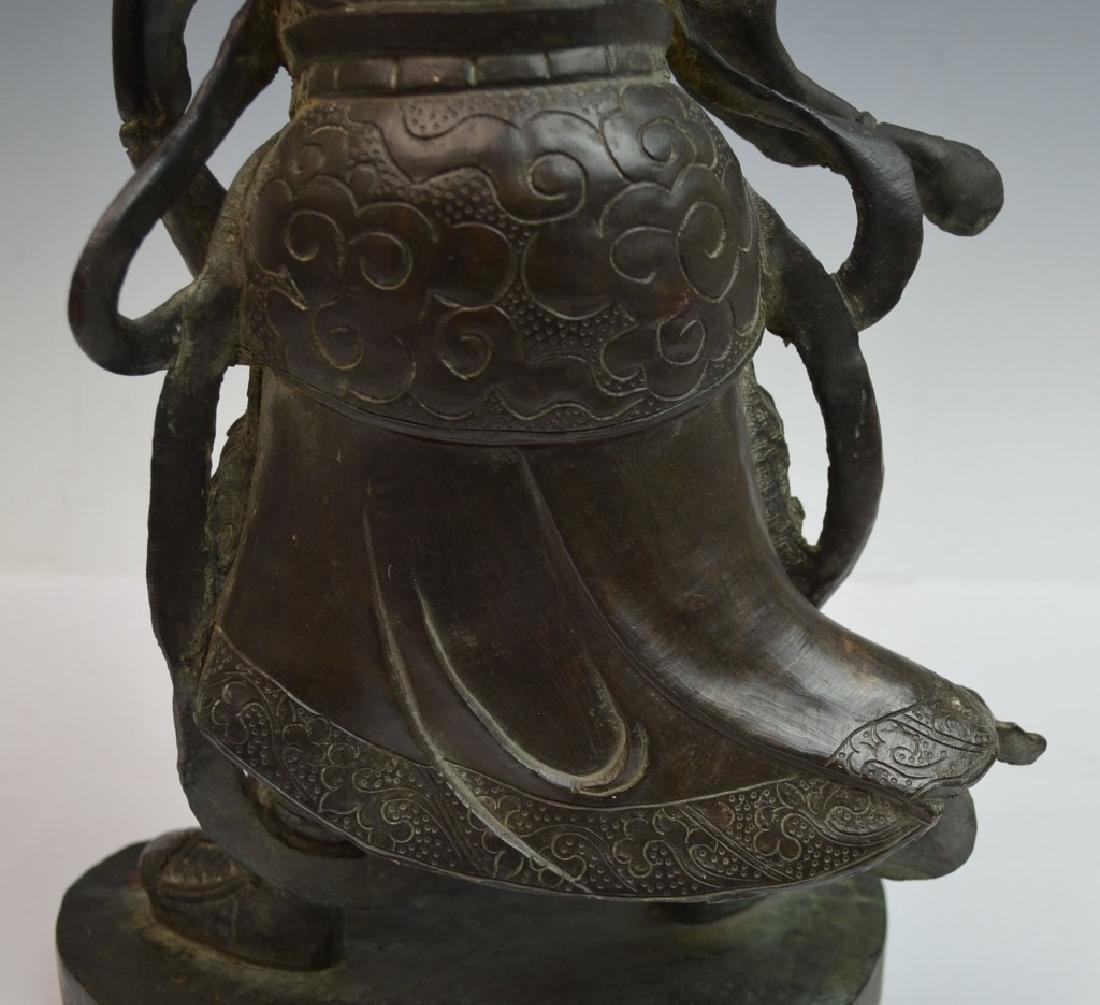 Chinese Bronze Figure of Standing Buddha - 7