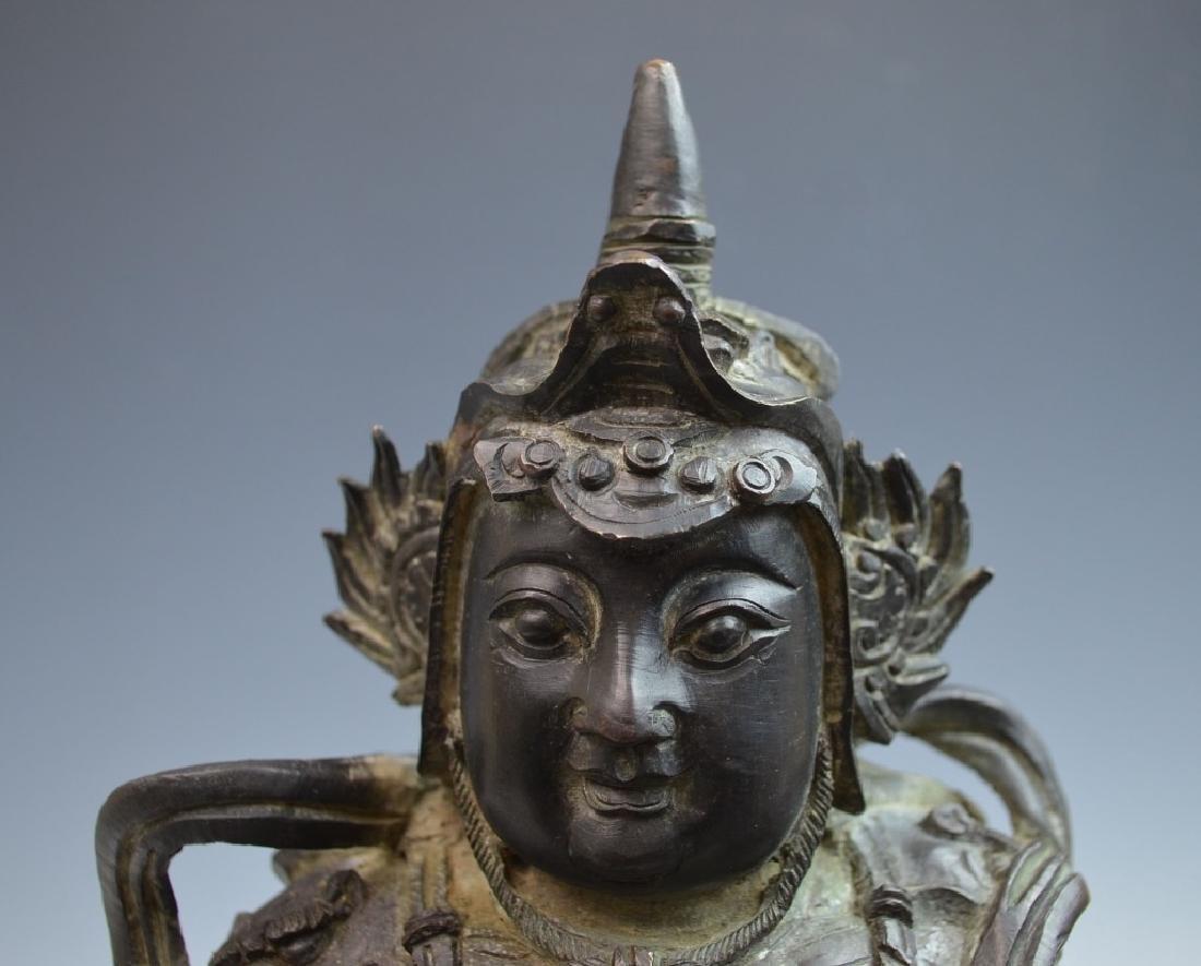 Chinese Bronze Figure of Standing Buddha - 8