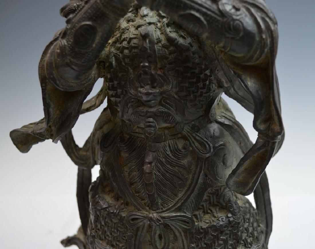 Chinese Bronze Figure of Standing Buddha - 9
