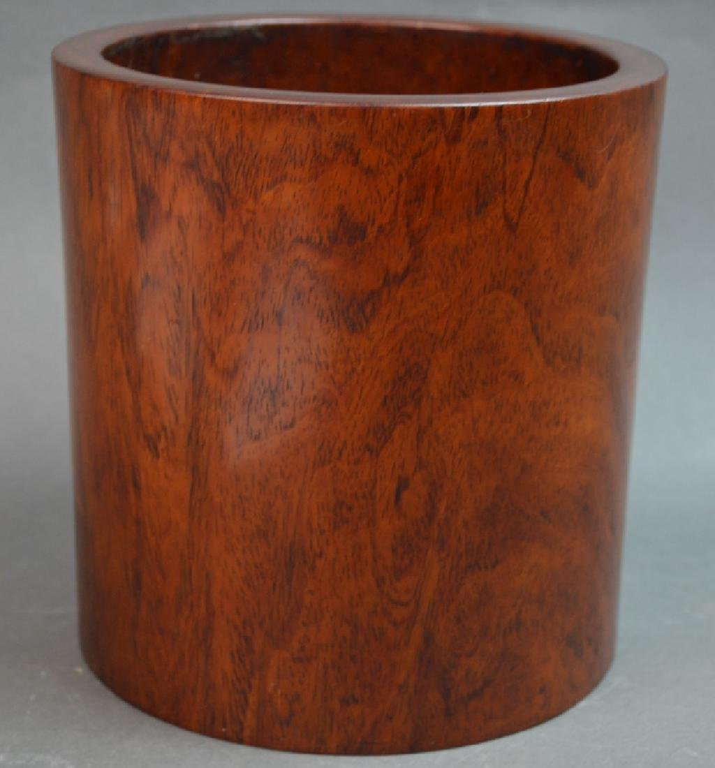 Chinese huanghuali Wood Carved Brush Pot