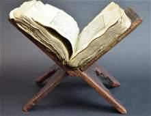 Rare Koran Book on Original Wood Stand