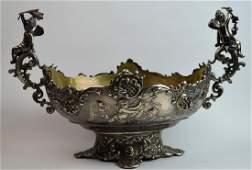 European Silver Centerpiece in Oval Shape