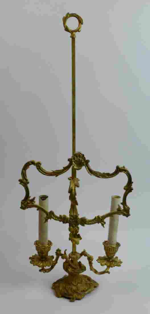 Bronze Lamp Base with Screen