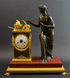Late 18th C. 1st Empire Clock with Turtle Feet