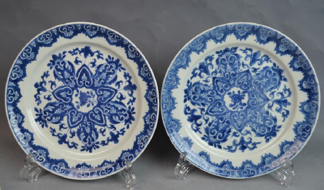 18th C. 4 Chinese Blue and White Porcelain Plates - 3