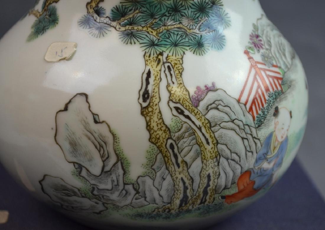 19th C. Chinese Famile Rose Porcelain Zun Vase - 4