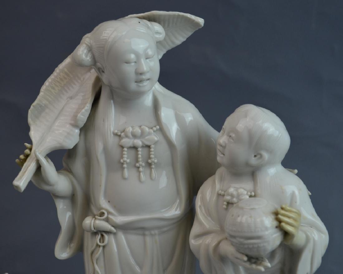 2 pcs 19th C. Blanc De Chine Porcelain Figures - 2