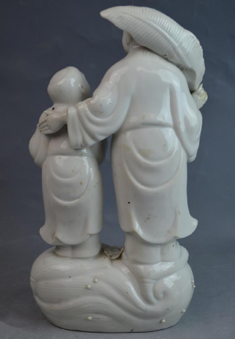 2 pcs 19th C. Blanc De Chine Porcelain Figures - 5