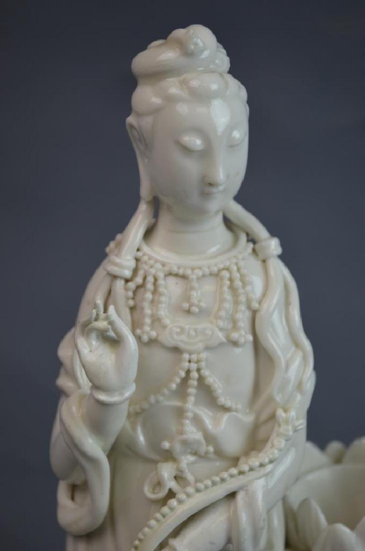2 pcs 19th C. Blanc De Chine Porcelain Figures - 7