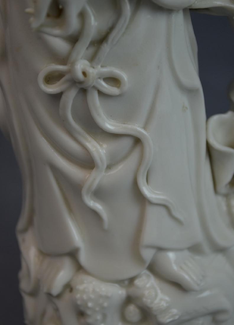 2 pcs 19th C. Blanc De Chine Porcelain Figures - 8