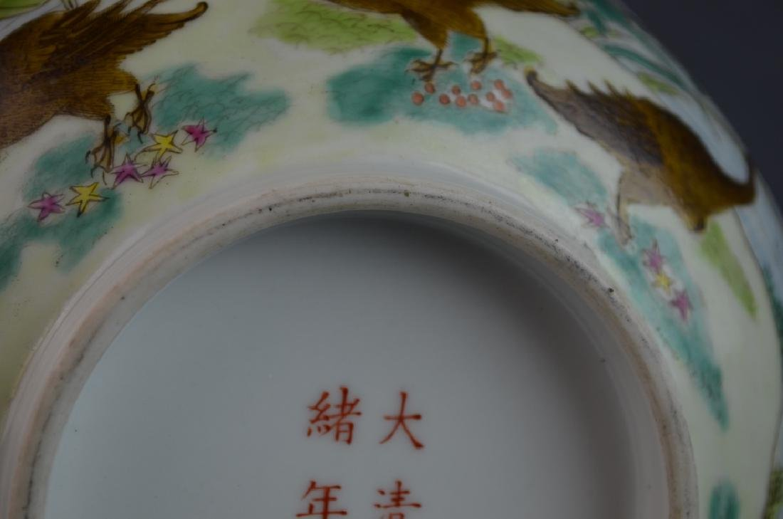 Chinese Famille Rose Duck Porcelain Bowl w/ Mark - 5