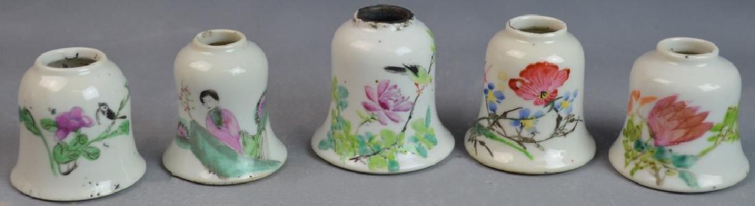 Set of 6 Chinese Famille Rose Porcelain Dropper