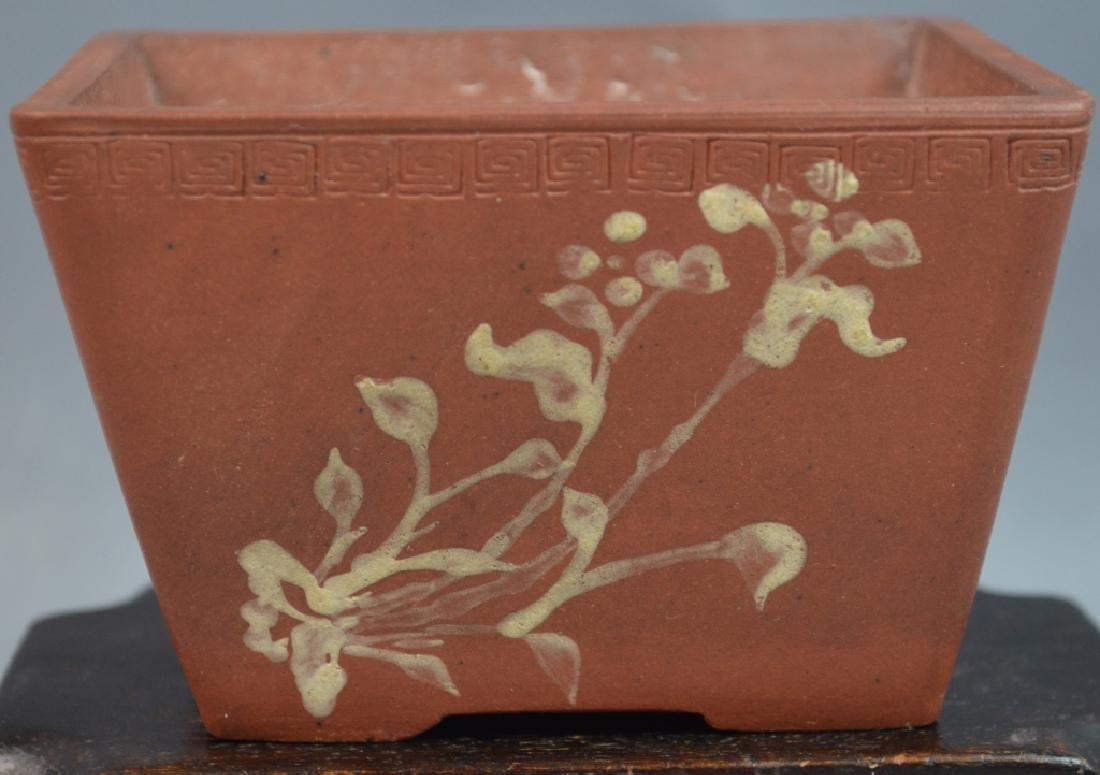 Chinese Pierced Zi Sha Pottery Planter