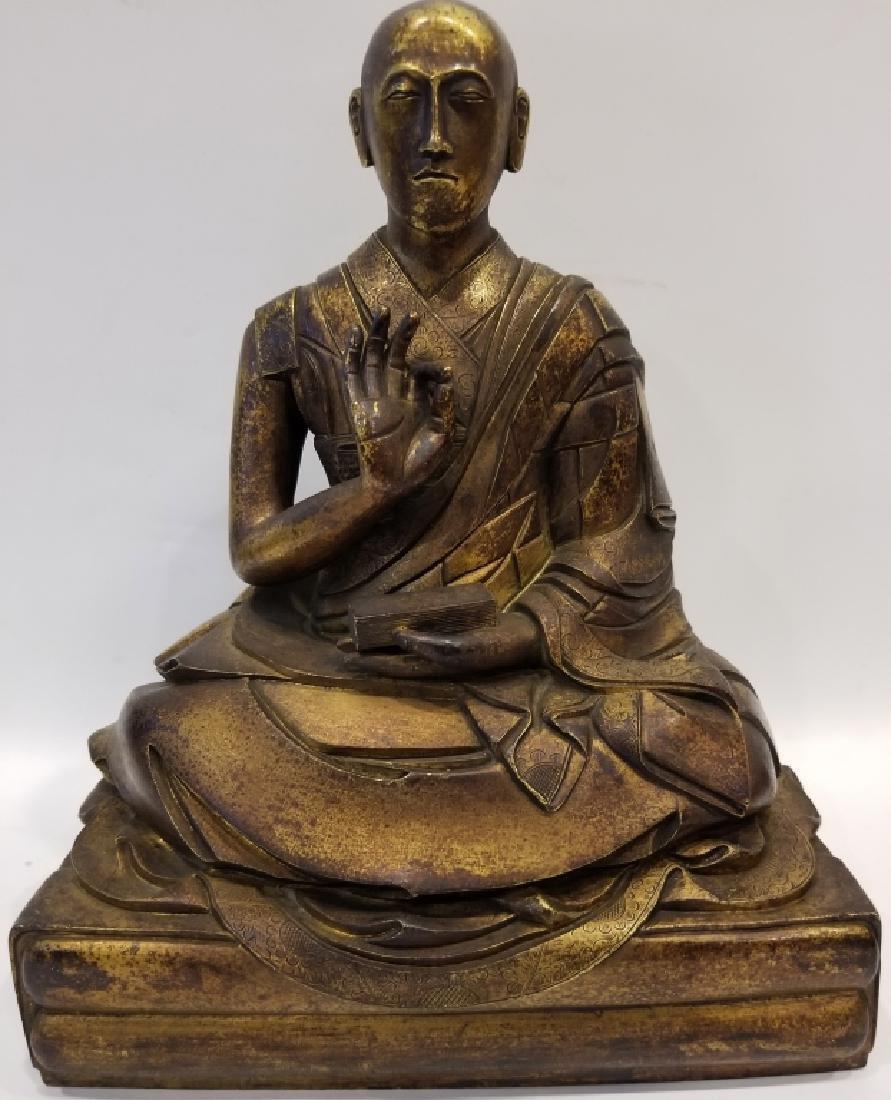 Chinese Bronze Figure of A Buddhist Monk