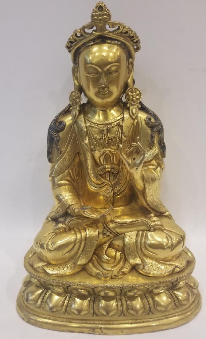 Chinese Bronze Guanyin Buddha