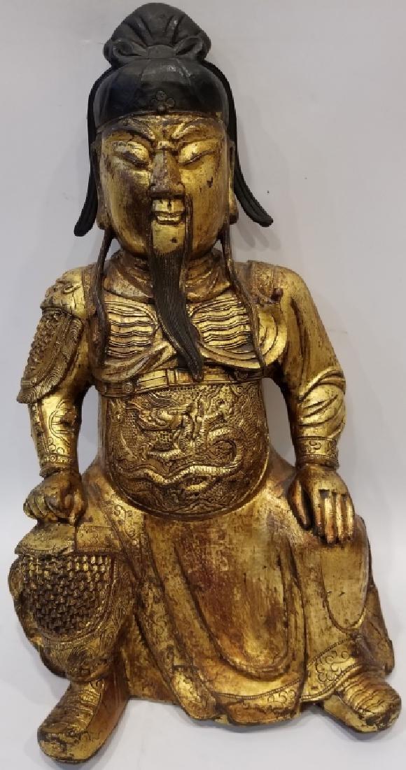 Chinese Bronze Figure of Guan Yu