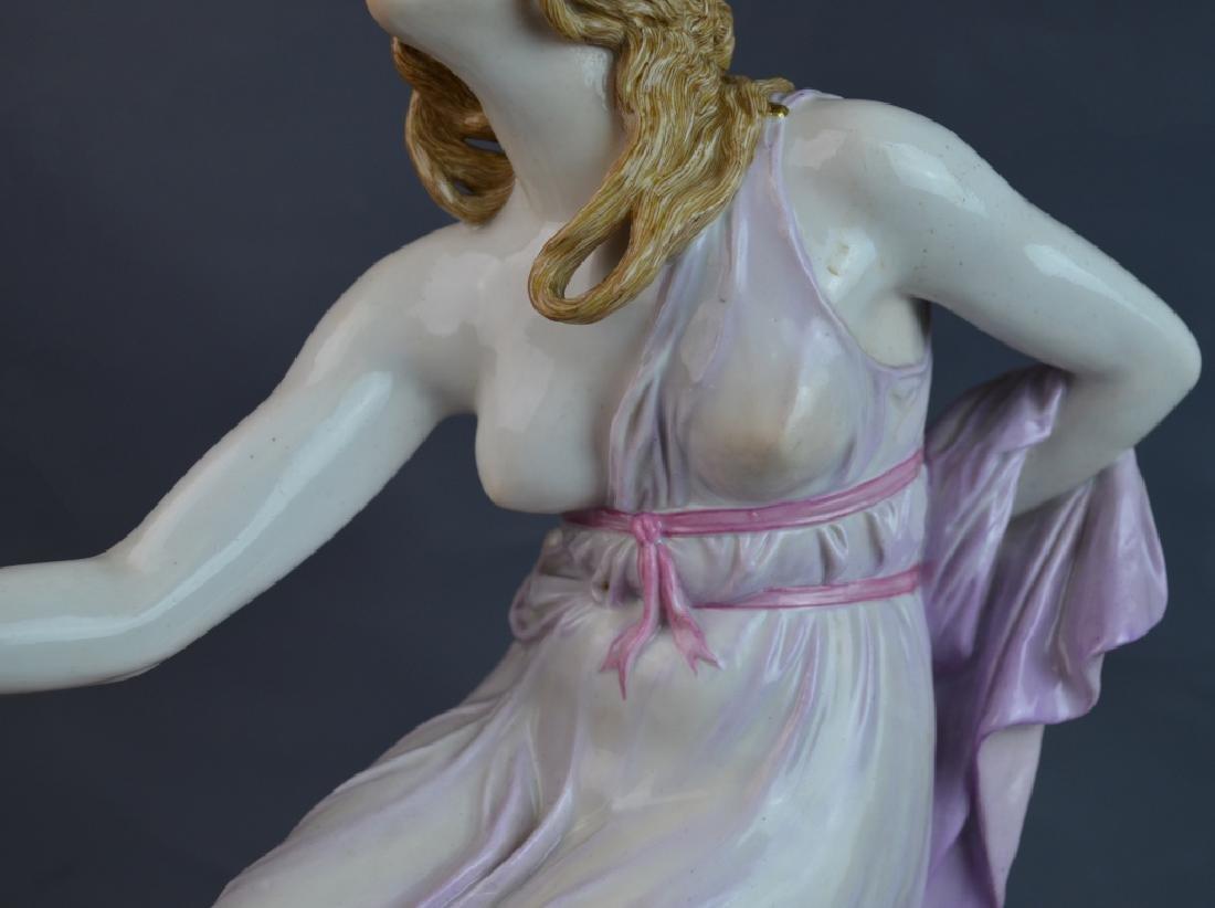Large Meissen Porcelain Woman Ball Thrower - 4