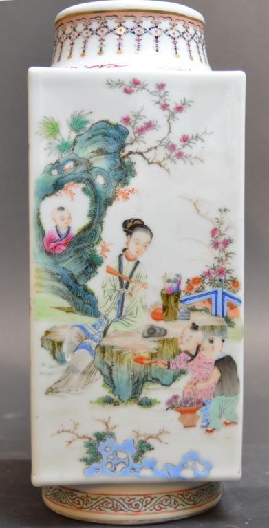 Chinese Porcelain Famille Rose Vase.