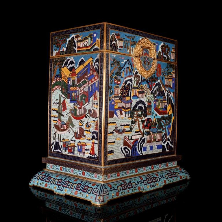 A Large Chinese Cloisonne Enamel Chest