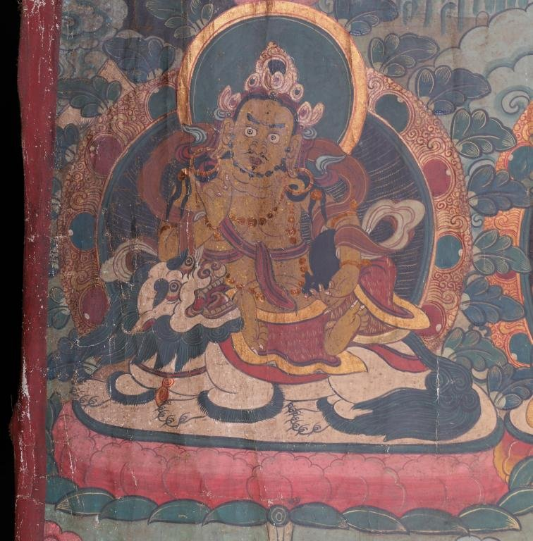 A Chinese Tibetan Thangka Painting Scroll