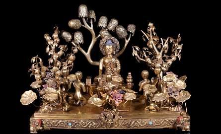A Large Chinese Tibetan Bronze Buddha's Teachings
