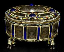 A Magnificent Viennese Enamel & Rock Crystal Box