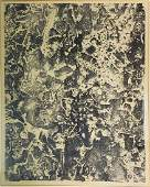 A Signed Lithograph by Jean Dubuffet