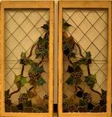A Pair of Leaded & Stained Glass Windows