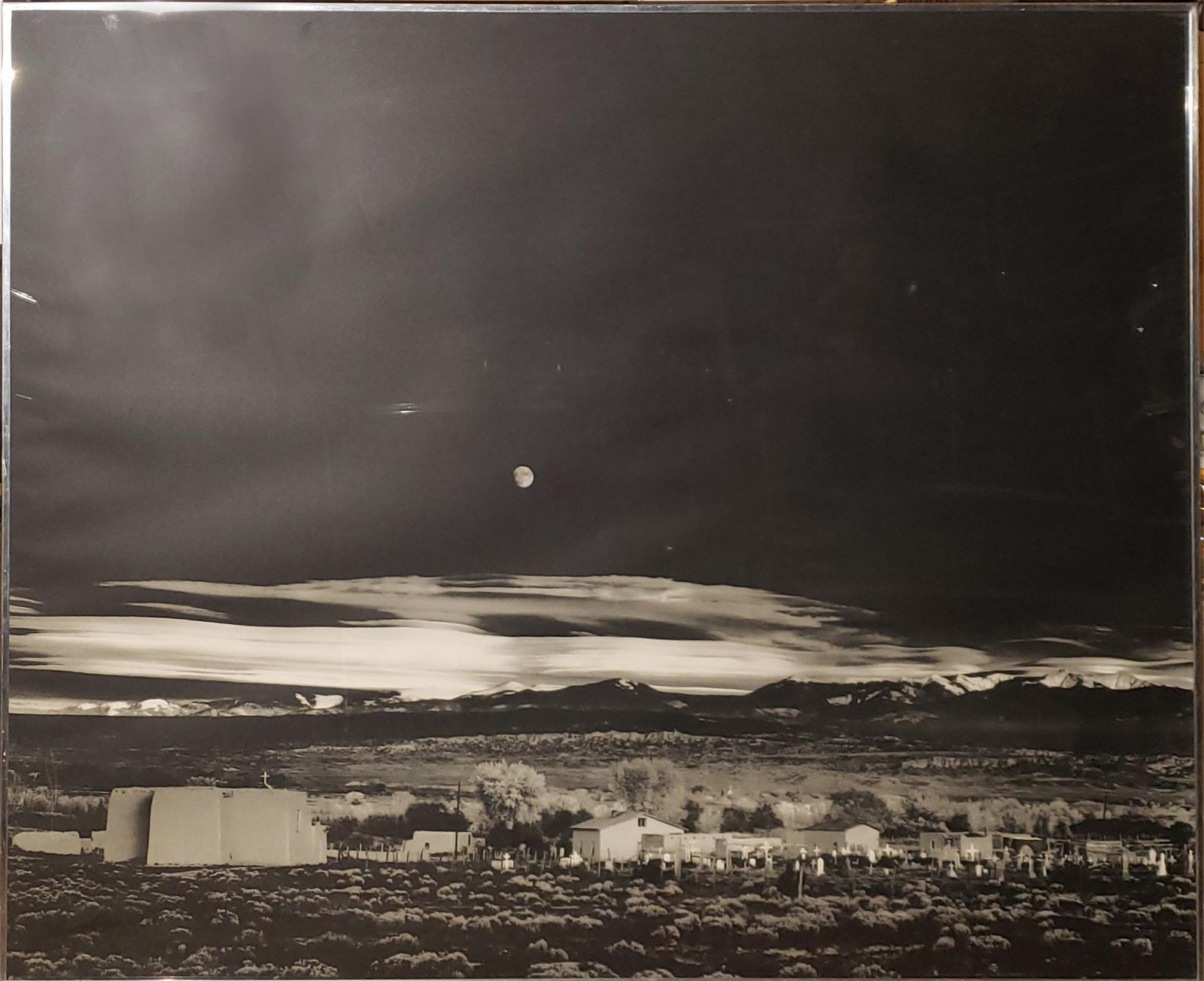 A Large Collotype by Ansel Adams. Moonrise